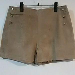 NEW! MANGO Suede Short Genuine Leather